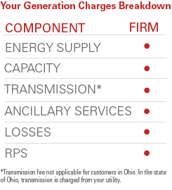 What are the two important factors for the energy price?